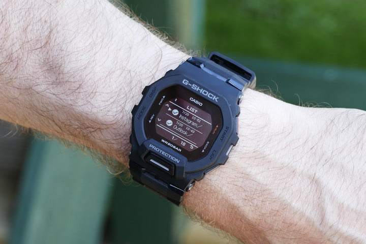 Activity screen on the Casio G-Shock GBD-200.