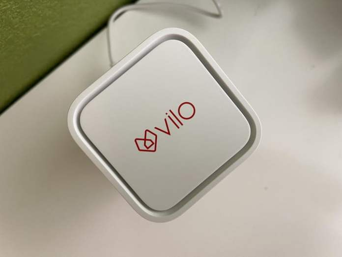 The prominent Weilo logo is found on the top of the router.