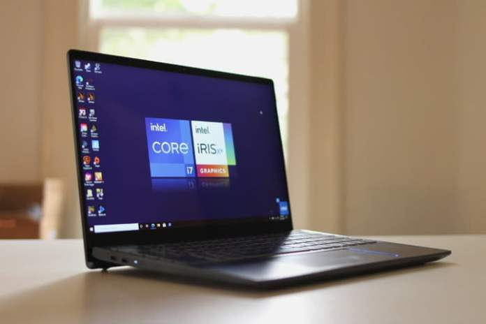 Laptop built with the Intel Core i7-11375H under the hood.