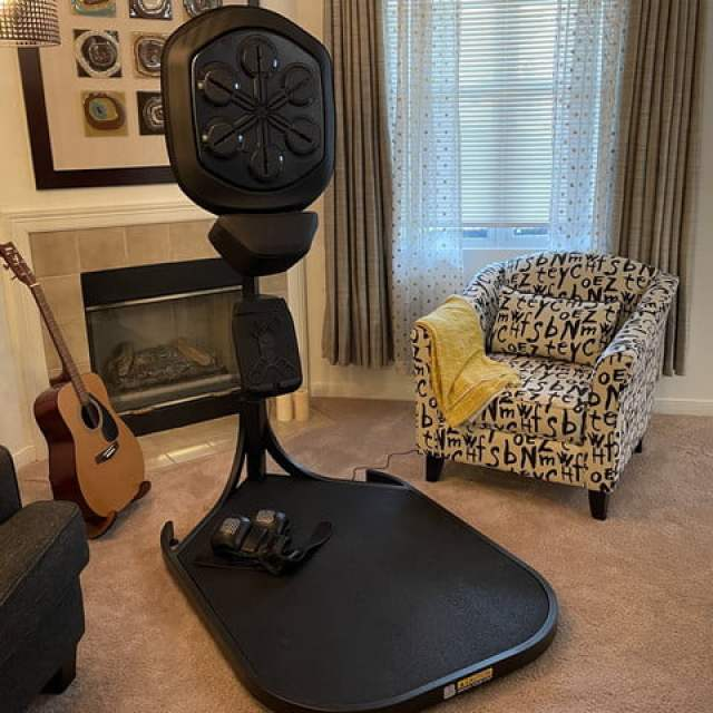 Full image of the Liteboxer in a living room.