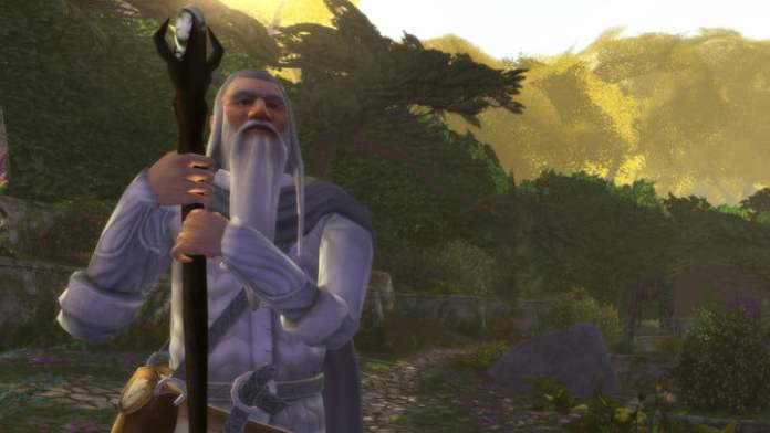 The wizard Gandalf in Lord of the Rings Online.