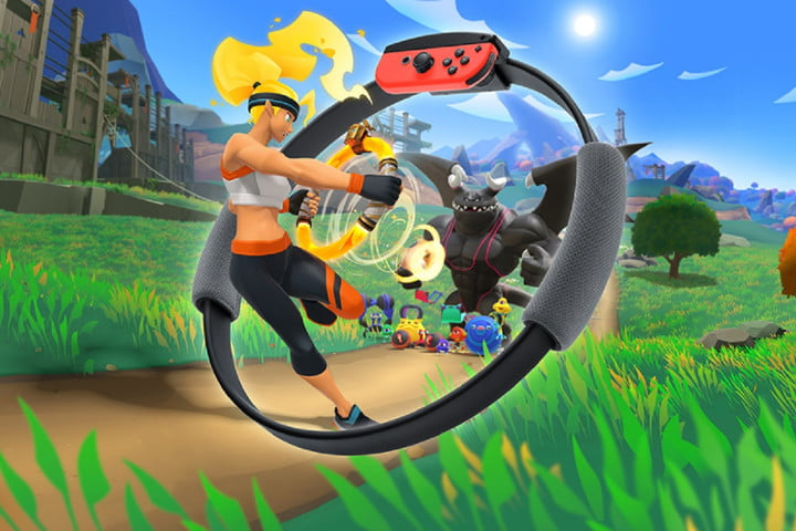 Ring Fit Adventure's hero uses the ring-con in promo art.