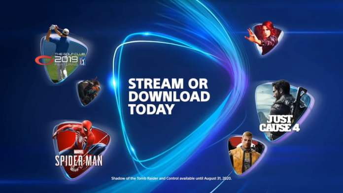 Various games that you can download or stream on PS Now.