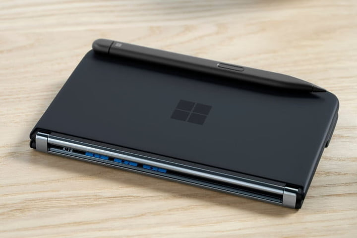 A side view of the Surface Duo 2.