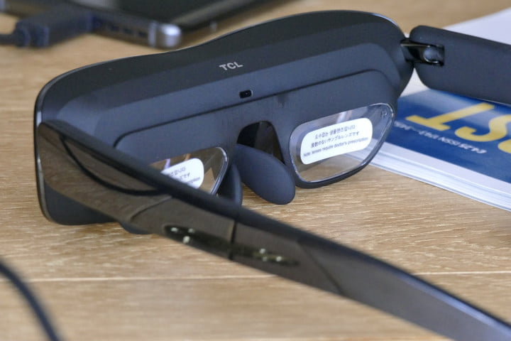 Prescription lens attachement fitted to the TCL NXTWear G.