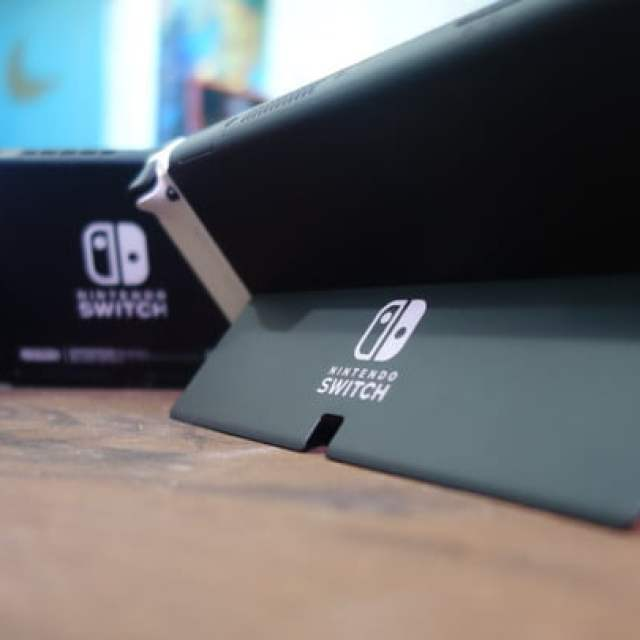 The Nintendo Switch OLED's kickstand compared to the 2019 Switch model.