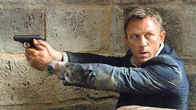 Daniel Craig as James Bond with his Walther PPK.