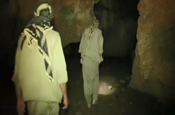 Teröristlerin Tunceli'de mağaradaki görüntüleri