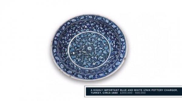 İznik çinisi tabak Londra'da rekor fiyata satıldı
