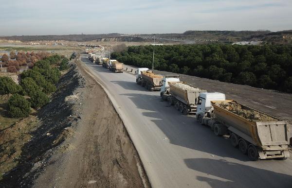 İstanbul'da sarı kamyonlara havadan takip