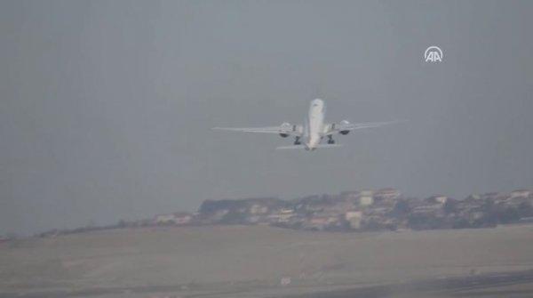 İstanbul Havalimanı'nda ilk uçuş gerçekleşti