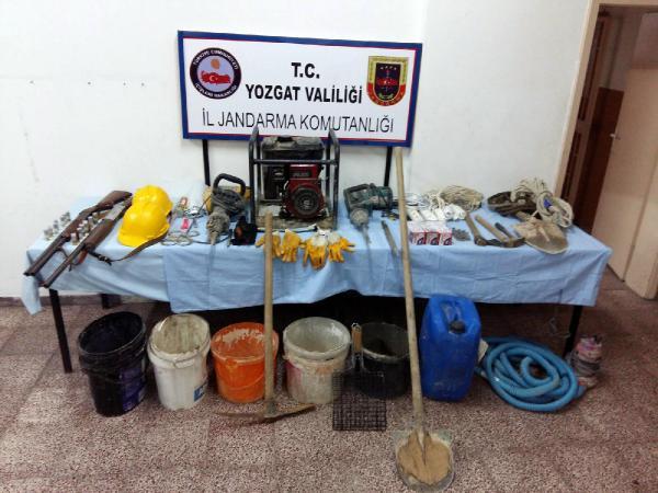 Yozgat'ta define arayanlar suçüstü yakalandı