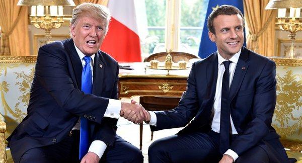 US President Trump hits back at Macron