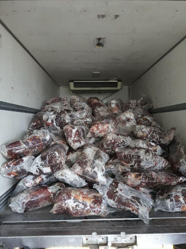 Sakarya'da 5 ton kaçak et ele geçirildi