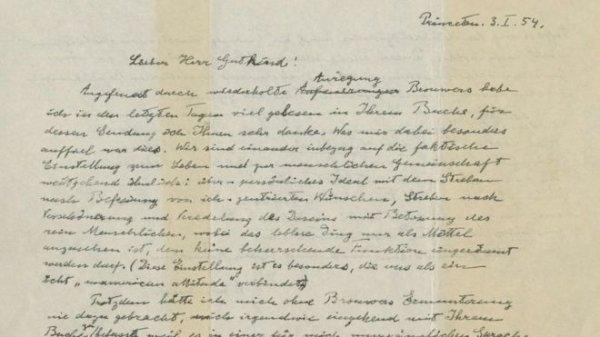 Albert Einstein'ın Tanrı mektubuna 2,9 milyon dolar