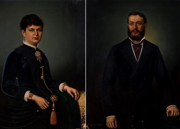 Kamondo Ailesi'ne ait olduğu düşünülen iki tablo görücüde