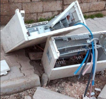 Nusaybin'de kaçağı önleyen 87 pano kırıldı