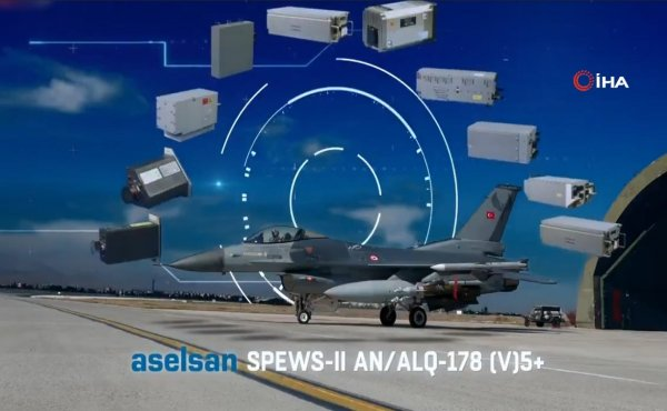 F-16 uçaklarına elektronik koruma sistemi