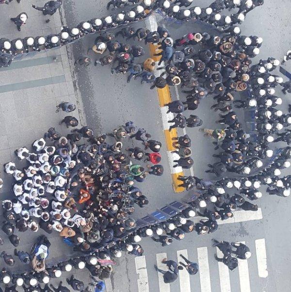 Galatasaray Meydanı'nda sıkı güvenlik önlemi