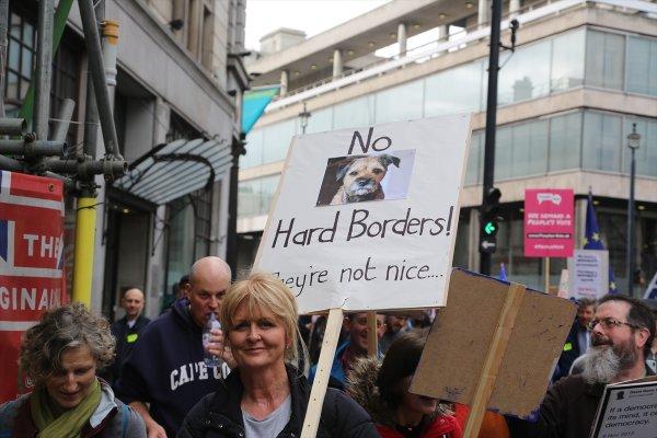 AB'den çıkmak istemeyen İngilizler Londra sokaklarında