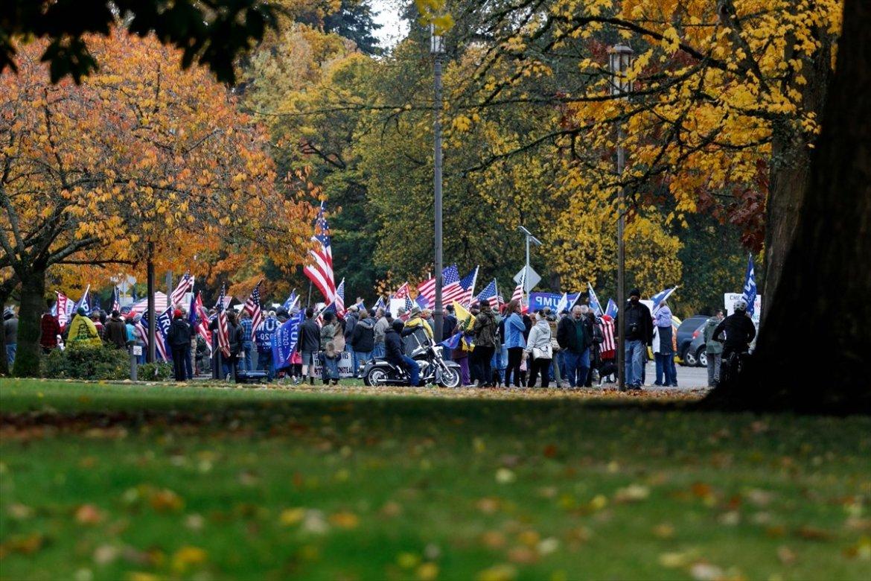 ABD de Trump taraftarı gruplar seçim sonuçlarını protesto etti #8