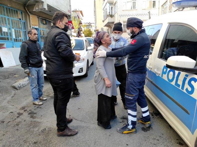 yangin engelli 1060 - Beyoğlu'nda yanan evde engelli eşinin olduğunu görünce bayıldı
