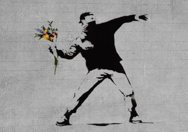 bansky 7943 - Banksy kimdir? Duvar ressamı Banksy gerçek adı nedir? Banksy duvar resimleri..