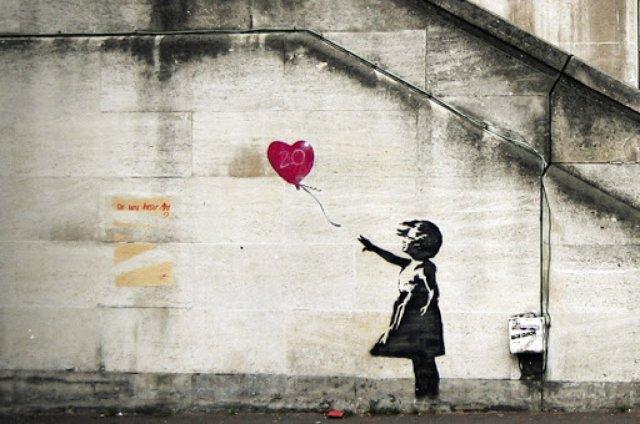 bansky 9478 - Banksy kimdir? Duvar ressamı Banksy gerçek adı nedir? Banksy duvar resimleri..