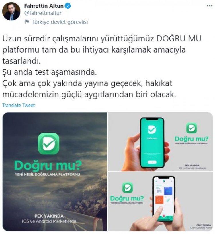 İletişim Başkanlığı, sosyal medya yalanlarıyla mücadele için platform hazırladı #1