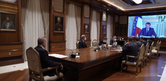 Cumhurbaşkanı Erdoğan, Macron la görüştü #6