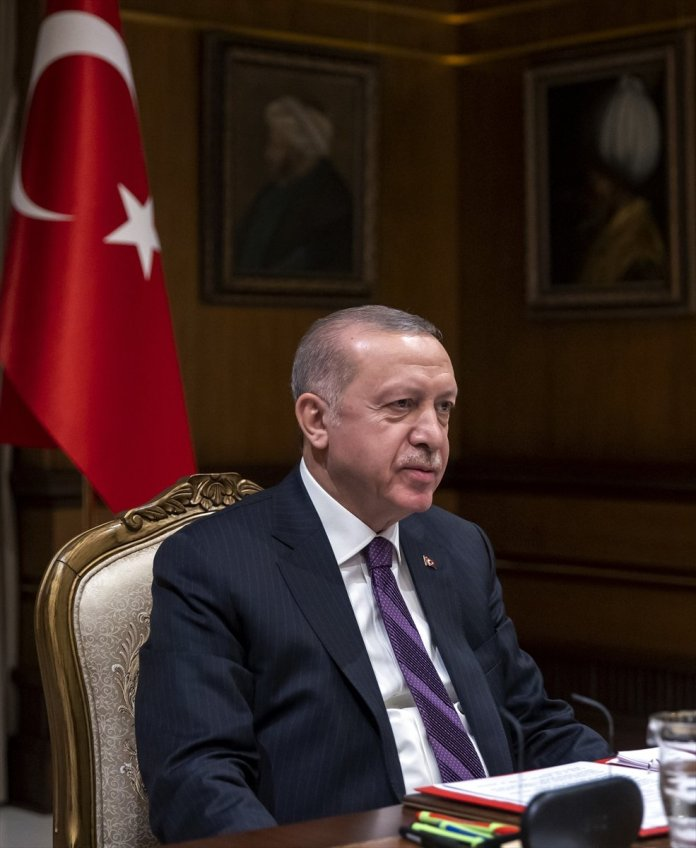 Cumhurbaşkanı Erdoğan, Macron la görüştü #3