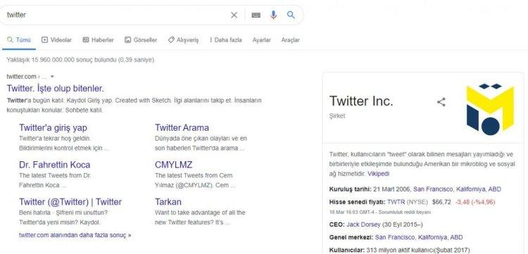 Google, Twitter yerine Mesut Özil in logosunu gösteriyor #1