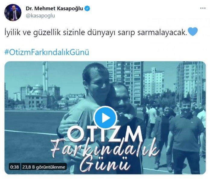 Bakan Kasapoğlu, 2 Nisan Dünya Otizm Farkındalık Günü ne dikkat çekti #1