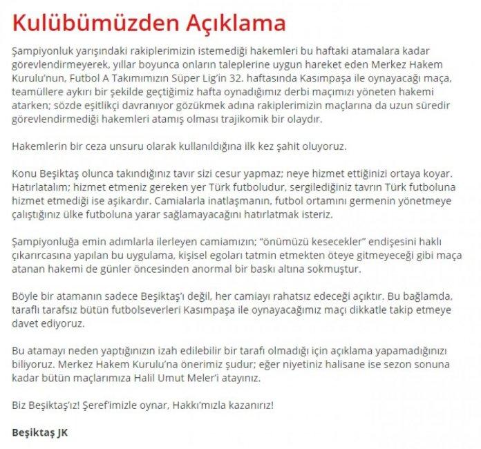 Beşiktaş: Bütün maçlarımıza Halil Umut Meler i atayın #2