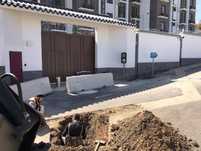 ASKİ, Çin Büyükelçiliği önünde çalışma başlattı #2
