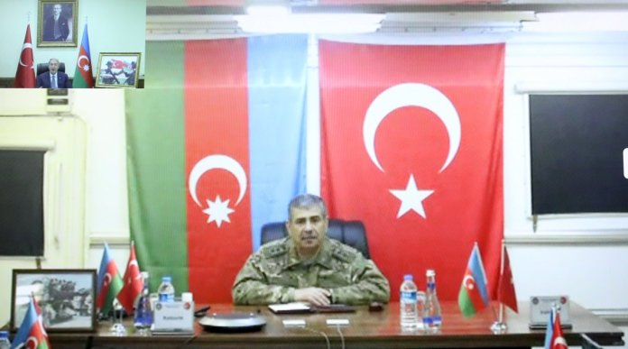 Hulusi Akar, Azerbaycan Savunma Bakanı Hasanov ile görüştü #2