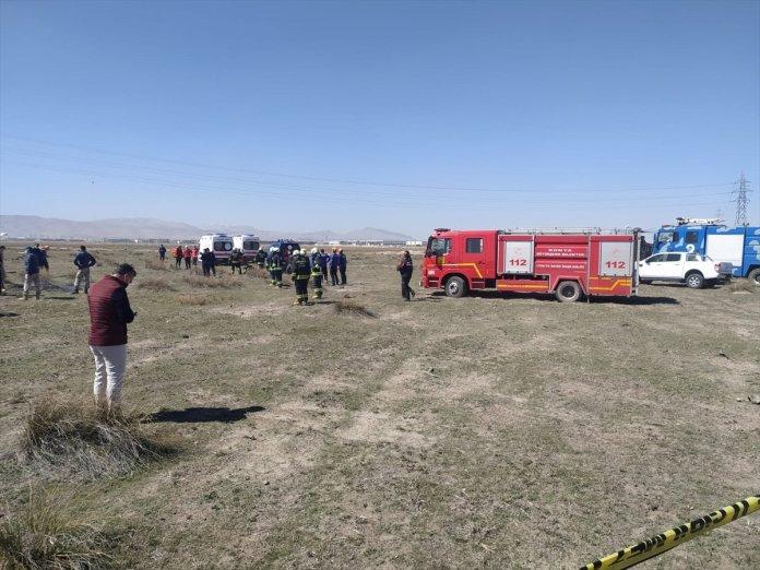 Konya da askeri uçak düştü  #9