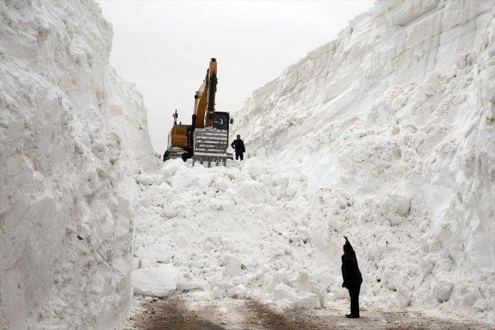 Muş'ta kar kalınlığı 15 metreyi geçti, köy yolu 1 haftada açılabildi  #4