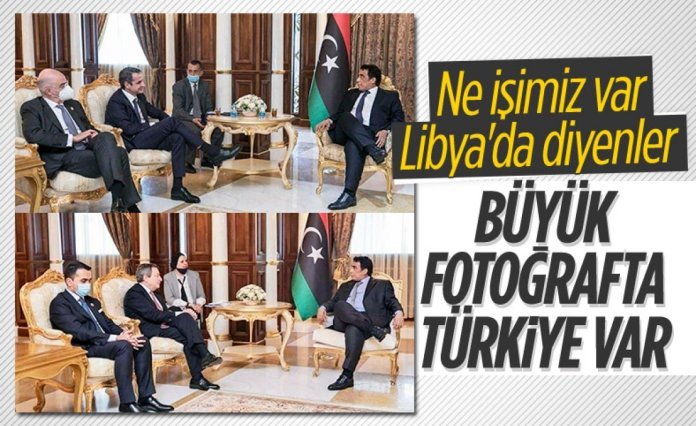 Muhammed Menfi nin Türk büyükelçiyi kabulünde dikkat çeken görüntü #4