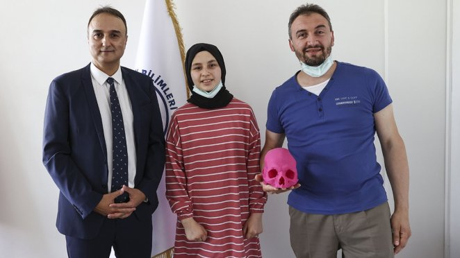 An artificial skull was transplanted to Gizemnur, who was in a traffic accident #3