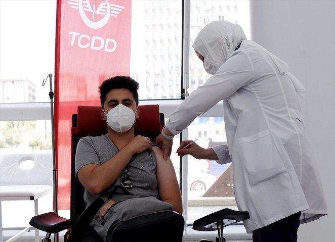 Coronavirus vaccination started at Ankara High Speed Train Station #3