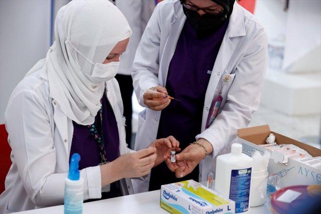 Coronavirus vaccination started at Ankara High Speed Train Station #7