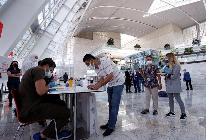 Coronavirus vaccination started at Ankara High Speed Train Station #4