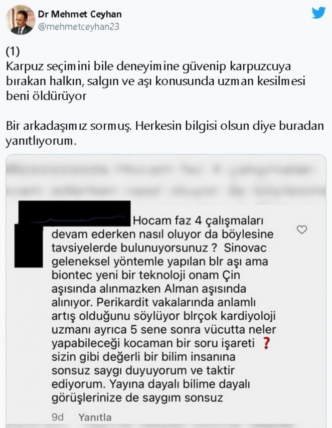 Mehmet Ceyhan: Don't have an opinion about the vaccine with the writings of two ignorant people #2