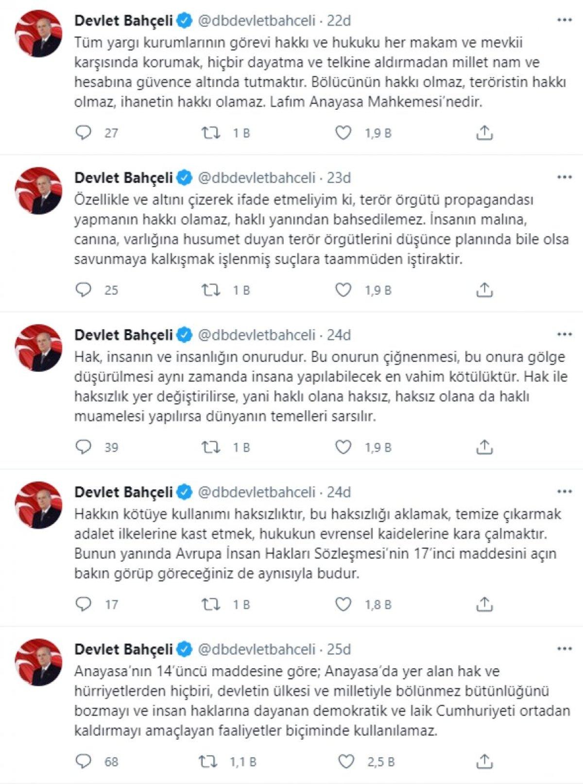 Devlet Bahçeli: AYM nin Gergerlioğlu kararı, terörizme destektir #2
