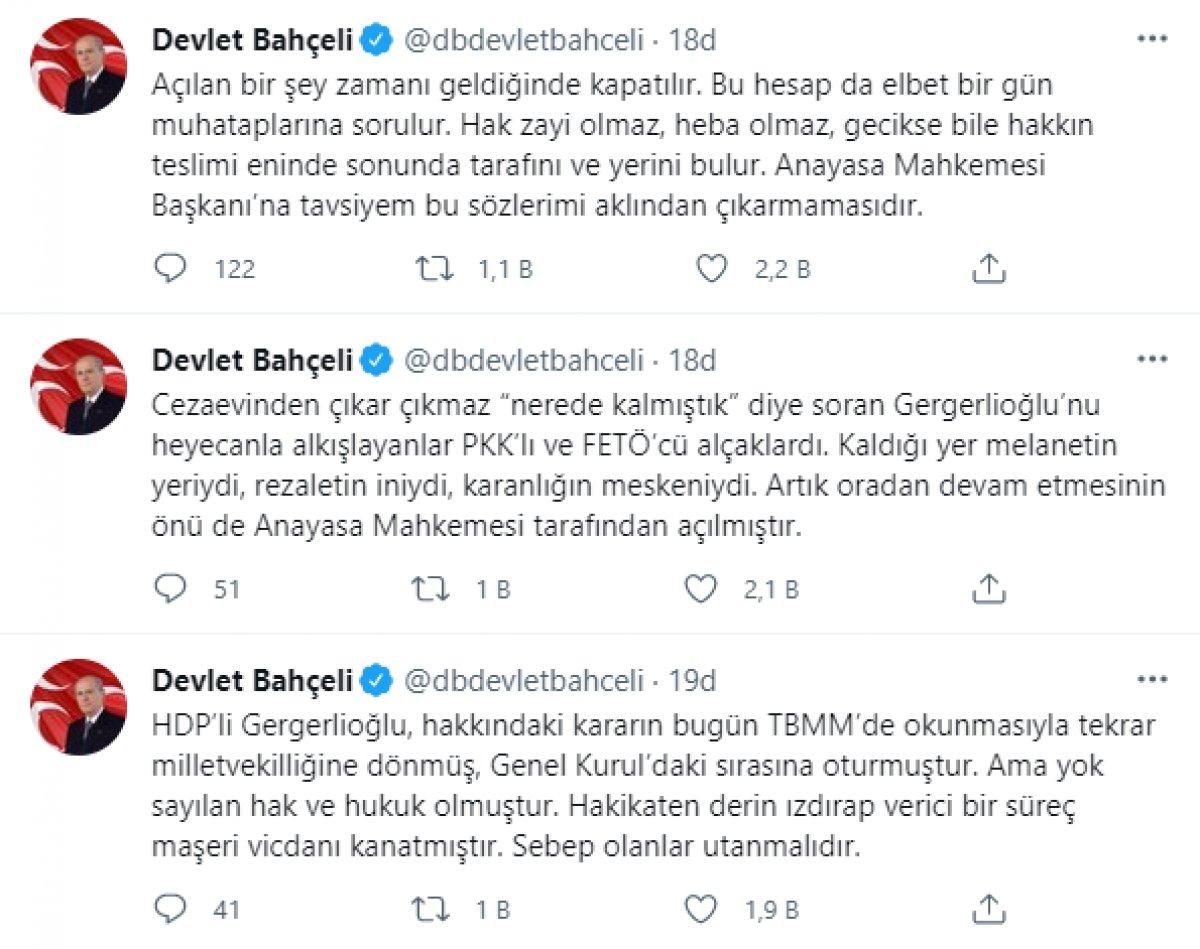 Devlet Bahçeli: AYM nin Gergerlioğlu kararı, terörizme destektir #4