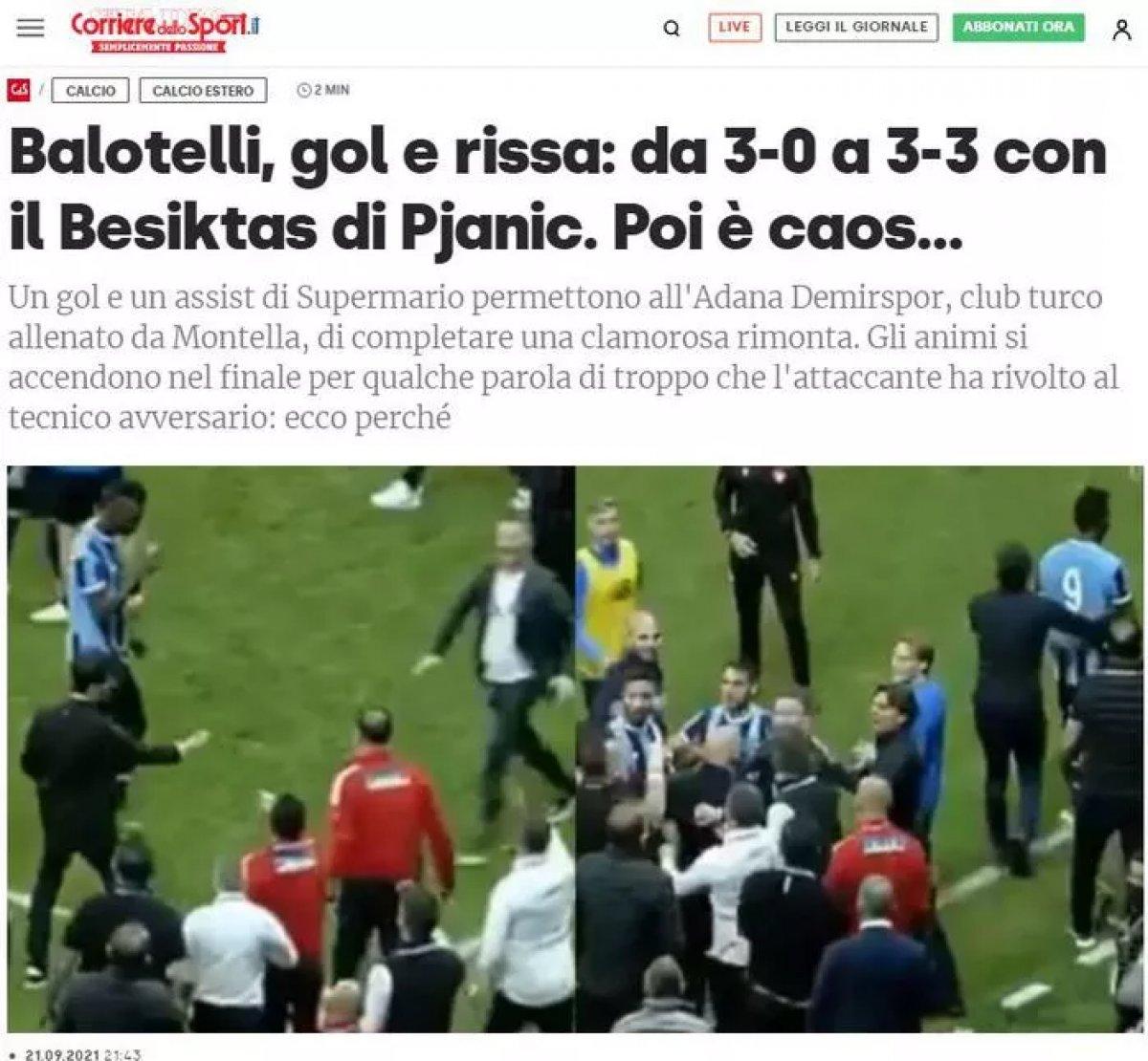 Balotelli nin yaptığı hareket dünya basınında manşet oldu #2