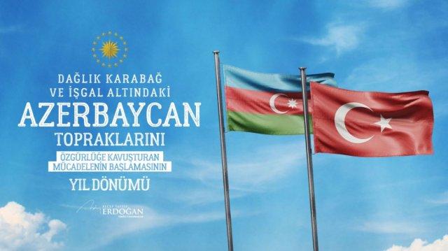 Cumhurbaşkanı Erdoğan, Karabağ zaferine ilişkin paylaşım yaptı #1