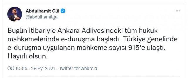 Bakan Gül: E-duruşma mahkeme sayısı 915 e ulaştı #1