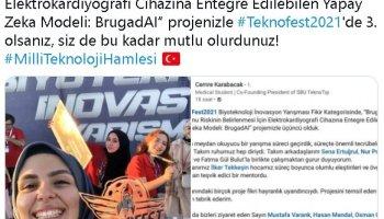 Bakan Varank, TEKNOFEST te ödül alan gençlerin sevincini paylaştı #1
